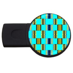 Triangles In Rectangles Pattern Usb Flash Drive Round (2 Gb) by LalyLauraFLM