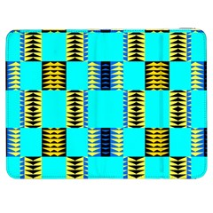 Triangles In Rectangles Pattern Samsung Galaxy Tab 7  P1000 Flip Case by LalyLauraFLM