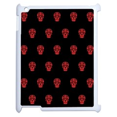 Skull Pattern Red Apple Ipad 2 Case (white) by MoreColorsinLife