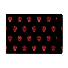 Skull Pattern Red Apple Ipad Mini Flip Case by MoreColorsinLife
