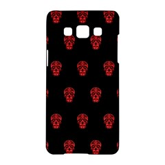 Skull Pattern Red Samsung Galaxy A5 Hardshell Case  by MoreColorsinLife