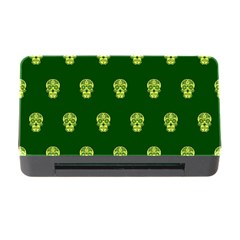 Skull Pattern Green Memory Card Reader With Cf by MoreColorsinLife