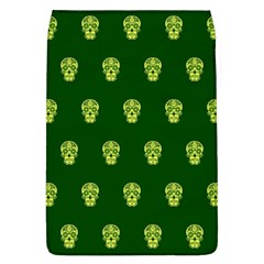 Skull Pattern Green Flap Covers (l)  by MoreColorsinLife