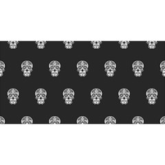 Skull Pattern Bw  You Are Invited 3d Greeting Card (8x4)