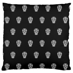 Skull Pattern Bw  Standard Flano Cushion Cases (one Side)