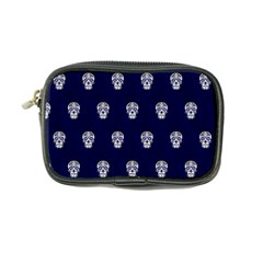 Skull Pattern Blue  Coin Purse by MoreColorsinLife