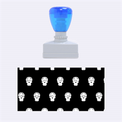 Skull Pattern Blue  Rubber Stamps (medium)  by MoreColorsinLife
