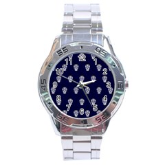 Skull Pattern Blue  Stainless Steel Men s Watch by MoreColorsinLife