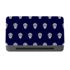 Skull Pattern Blue  Memory Card Reader With Cf by MoreColorsinLife