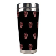 Skull Pattern Pink  Stainless Steel Travel Tumblers by MoreColorsinLife