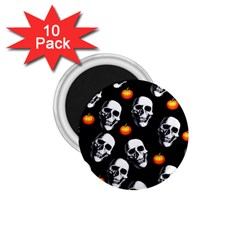 Skulls And Pumpkins 1 75  Magnets (10 Pack)  by MoreColorsinLife