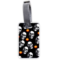 Skulls And Pumpkins Luggage Tags (one Side)  by MoreColorsinLife