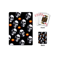 Skulls And Pumpkins Playing Cards (mini)  by MoreColorsinLife