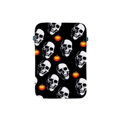 Skulls And Pumpkins Apple Ipad Mini Protective Soft Cases by MoreColorsinLife