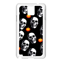 Skulls And Pumpkins Samsung Galaxy Note 3 N9005 Case (white) by MoreColorsinLife