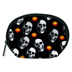 Skulls And Pumpkins Accessory Pouches (medium)