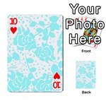 Floral Wallpaper Aqua Playing Cards 54 Designs  Front - Heart10