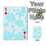 Floral Wallpaper Aqua Playing Cards 54 Designs  Front - Diamond5