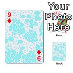 Floral Wallpaper Aqua Playing Cards 54 Designs  Front - Diamond9