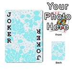 Floral Wallpaper Aqua Playing Cards 54 Designs  Front - Joker1