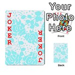 Floral Wallpaper Aqua Playing Cards 54 Designs  Front - Joker2