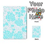 Floral Wallpaper Aqua Playing Cards 54 Designs  Back