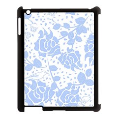 Floral Wallpaper Blue Apple Ipad 3/4 Case (black) by ImpressiveMoments