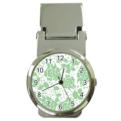 Floral Wallpaper Green Money Clip Watches by ImpressiveMoments