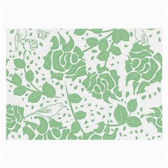 Floral Wallpaper Green Large Glasses Cloth (2 Side) by ImpressiveMoments