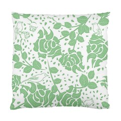 Floral Wallpaper Green Standard Cushion Cases (two Sides)