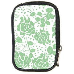 Floral Wallpaper Green Compact Camera Cases by ImpressiveMoments