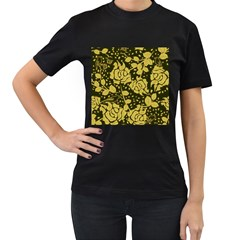 Floral Wallpaper Forest Women s T Shirt (black) by ImpressiveMoments