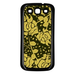 Floral Wallpaper Forest Samsung Galaxy S3 Back Case (black) by ImpressiveMoments