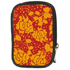 Floral Wallpaper Hot Red Compact Camera Cases by ImpressiveMoments