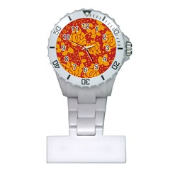 Floral Wallpaper Hot Red Nurses Watches by ImpressiveMoments