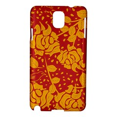 Floral Wallpaper Hot Red Samsung Galaxy Note 3 N9005 Hardshell Case by ImpressiveMoments