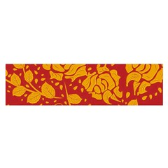 Floral Wallpaper Hot Red Satin Scarf (oblong) by ImpressiveMoments