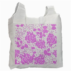 Floral Wallpaper Pink Recycle Bag (one Side) by ImpressiveMoments