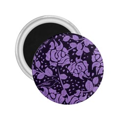 Floral Wallpaper Purple 2 25  Magnets by ImpressiveMoments