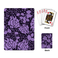 Floral Wallpaper Purple Playing Card by ImpressiveMoments