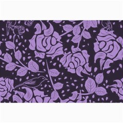 Floral Wallpaper Purple Collage 12  X 18  by ImpressiveMoments