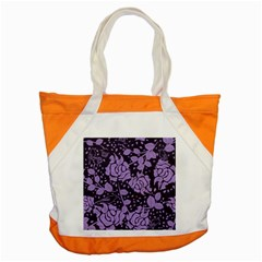 Floral Wallpaper Purple Accent Tote Bag  by ImpressiveMoments