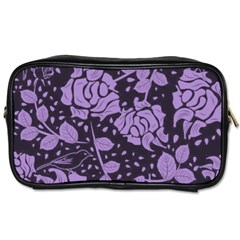 Floral Wallpaper Purple Toiletries Bags by ImpressiveMoments