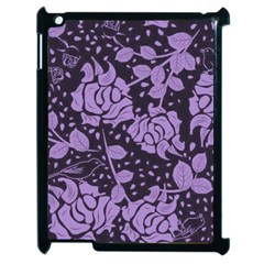 Floral Wallpaper Purple Apple Ipad 2 Case (black) by ImpressiveMoments