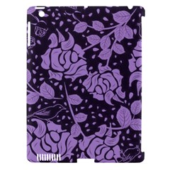 Floral Wallpaper Purple Apple Ipad 3/4 Hardshell Case (compatible With Smart Cover) by ImpressiveMoments