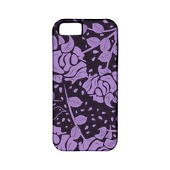 Floral Wallpaper Purple Apple Iphone 5 Classic Hardshell Case (pc+silicone) by ImpressiveMoments