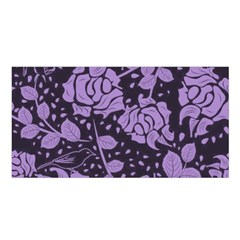 Floral Wallpaper Purple Satin Shawl by ImpressiveMoments
