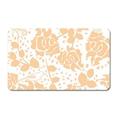 Floral Wallpaper Peach Magnet (rectangular) by ImpressiveMoments