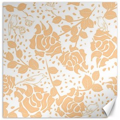 Floral Wallpaper Peach Canvas 12  X 12   by ImpressiveMoments