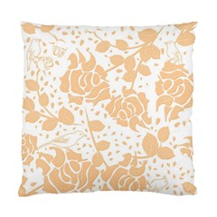 Floral Wallpaper Peach Standard Cushion Case (one Side)  by ImpressiveMoments